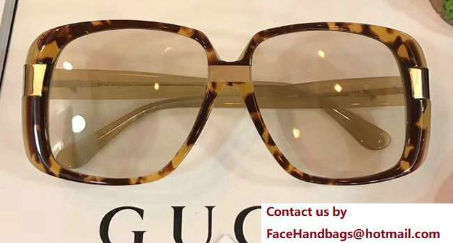 Gucci Oversize Round-Frame Acetate Sunglasses 506217 06 2018
