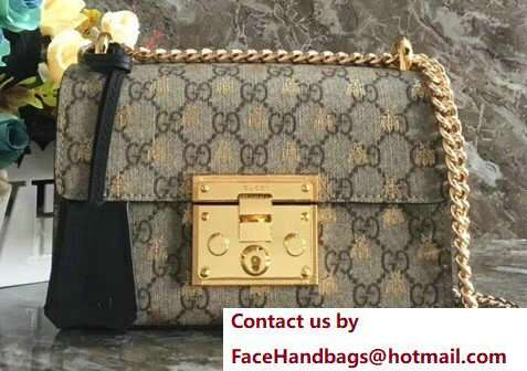 Gucci Padlock GG Supreme Bees Shoulder Small Bag 409487 2018