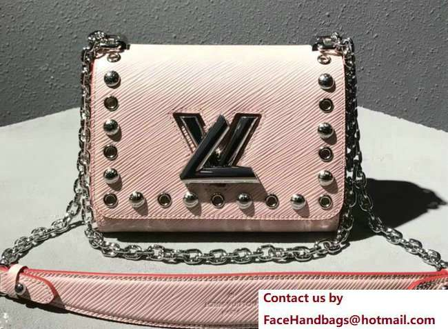 Louis Vuitton Studs And Eyelets Epi Leather Twist PM Bag M53539 Pink 2018