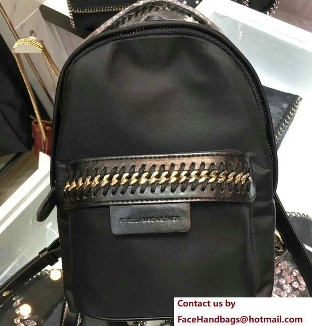 Stella McCartney Falabella Go Mini Backpack Bag Black