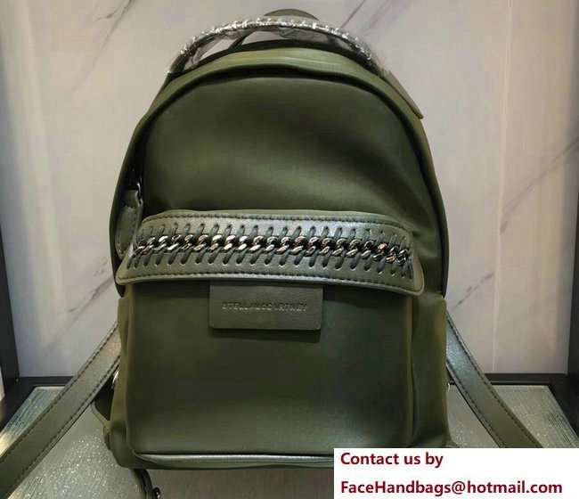 Stella McCartney Falabella Go Mini Backpack Bag Green