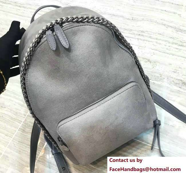 Stella McCartney Falabella Mini Backpack Bag Gray