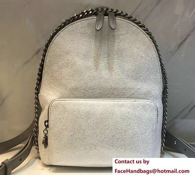 Stella McCartney Falabella Mini Backpack Bag Silver White