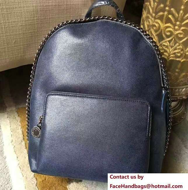 Stella McCartney Falabella Shaggy Deer Mini Backpack Bag Dark Blue