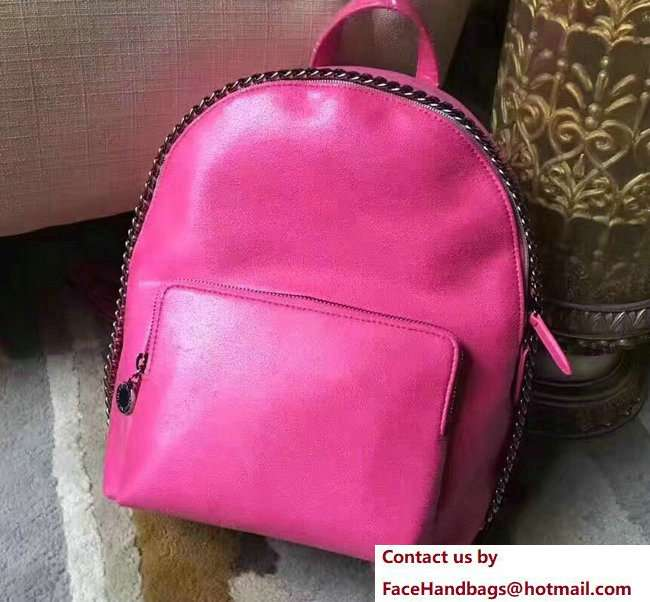 Stella McCartney Falabella Shaggy Deer Mini Backpack Bag Fuchsia