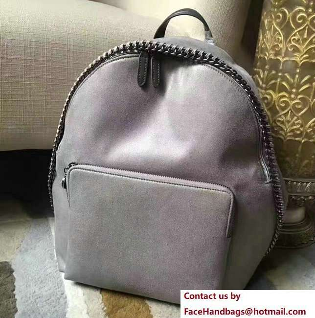Stella McCartney Falabella Shaggy Deer Mini Backpack Bag Gray